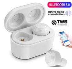 Platinet PM1085B brezžične slušalke s polnilno enoto, bele - Odprta embalaža