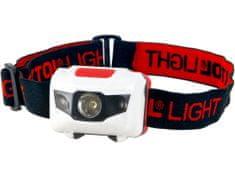 Extol Light Čelovka 1W + 2LED, 4módy světla: 100%, 50%, červené LED, červ. LED blikání