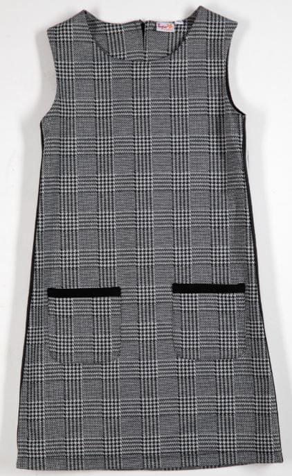 Topo dívčí šaty 152 šedá