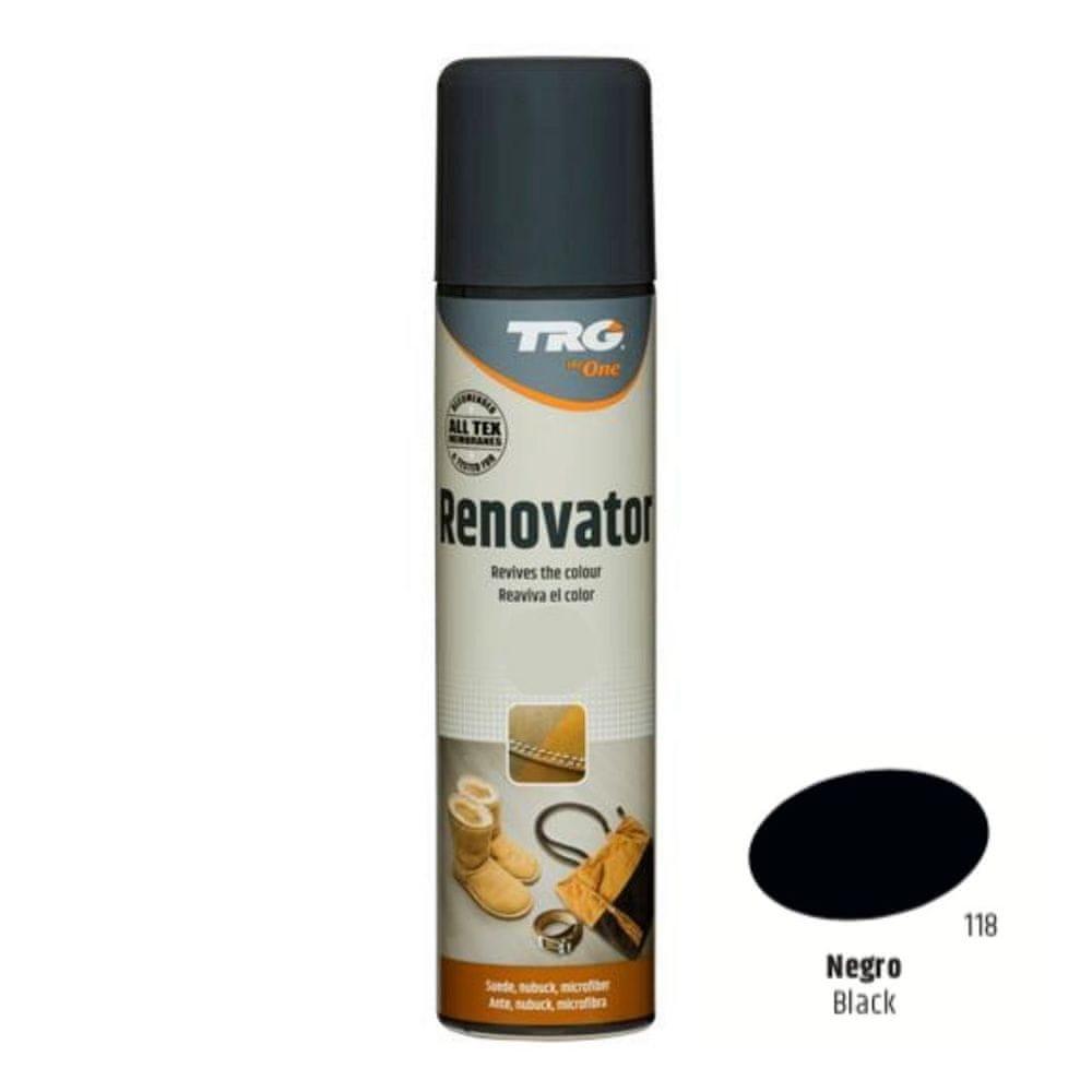 TRG One Barvící sprej na semiš, nubuk a ovčí kůži Suede Renovator - Černá 118 Black