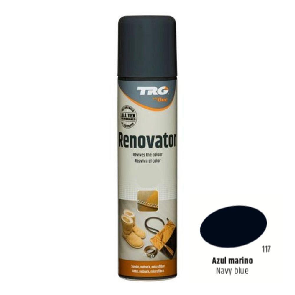 TRG One Barvící sprej na semiš, nubuk a ovčí kůži Suede Renovator - Modrá 117 Azul Marino