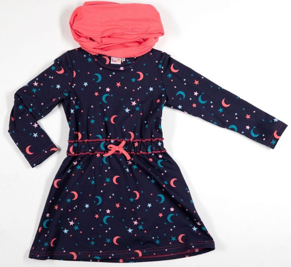 Topo dívčí šaty 128 tmavě modrá