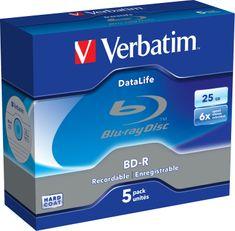 Verbatim BD-R SL DataLife 25GB, 6x, jewel case 5 ks (43836)