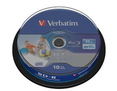 Verbatim BD-R SL DataLife 25GB, 6x, printable, spindle 10 ks (43804)