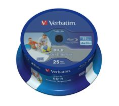 Verbatim BD-R SL DataLife 25GB, 6x, printable, spindle 25 ks (43811)