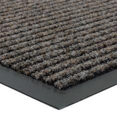 FLOMA Hnědá vnitřní čistící vstupní rohož Everton - délka 40 cm, šířka 60 cm a výška 0,6 cm