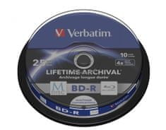 Verbatim M-DISC BD-R SL 25GB, 4x, printable, spindle 10 ks (43825)
