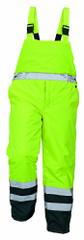 Cerva Zateplené voděodolné reflexní kalhoty na traky Padstow žlutá L