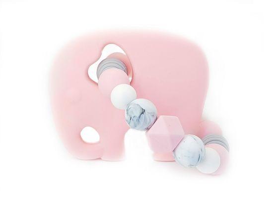 KidPro Silikónové hryzátko: Sloník Ruženka