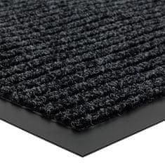 FLOMA Antracitová vnitřní čistící vstupní rohož Everton - délka 60 cm, šířka 80 cm a výška 0,6 cm