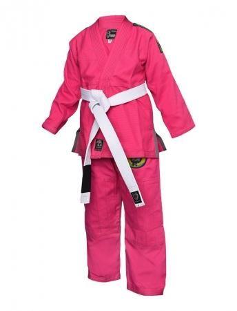 OKAMI fightgear Dětské Kimono Gi Wolf Pup 2.0 - pink