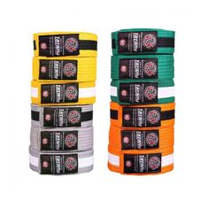 Tatami Fightwear TATAMI Dětské pásky IBJJF - oranžovobílý