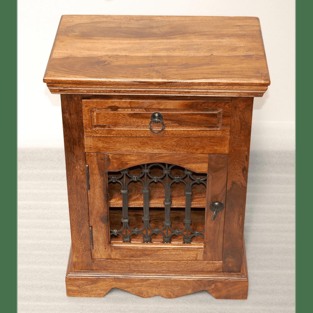LAKŠMI Noční stolek Jali 45x60x40 z indického masivu palisandr, Super natural
