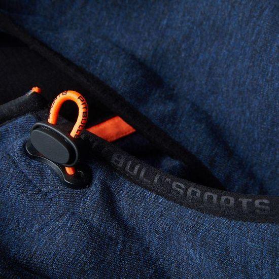 PitBull West Coast Mikina KPZ s kapucí PitBull West Coast LOGAN - tmavě modrá