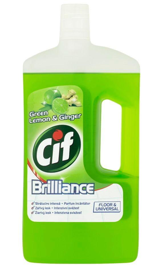 Cif Brilliance Green Lemon&Ginger čistící prostředek na podlahy a omyvatelné povrchy 1000 ml