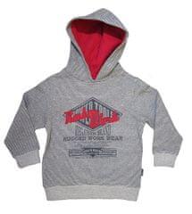 Carodel chlapecká mikina 104 šedá/červená