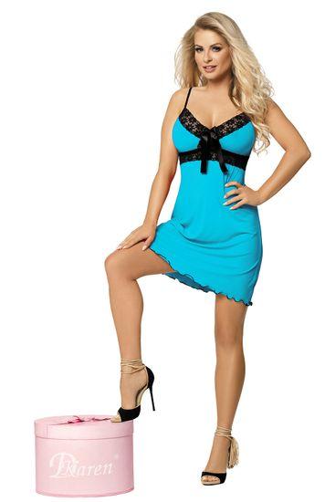 DKaren Női kombiné Cassidy turquoise + Nőin zokni Gatta Calzino Strech