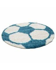 Ayyildiz Detský kusový koberec Fun 6001 turkis 100x100 (průměr) kruh