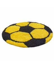 Ayyildiz Detský kusový koberec Fun 6001 yellow 100x100 (průměr) kruh