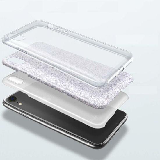 Bling maska za Samsung Galaxy A70 A705, srebrna, sa šljokicama