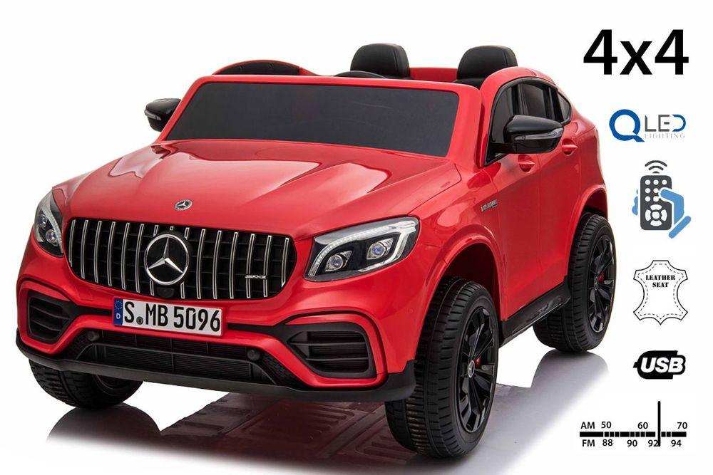Beneo Elektrické autíčko Mercedes-AMG GLC, Dvoumístné, Kožená sedadla, Rádio s USB vstupem, Pohon 4X