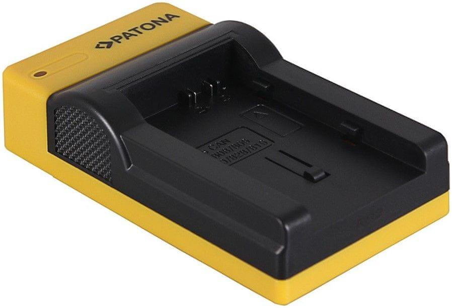 PATONA Nabíječka pro digitální kameru Canon BP-808/820/827/828 slim, USB (PT151589)