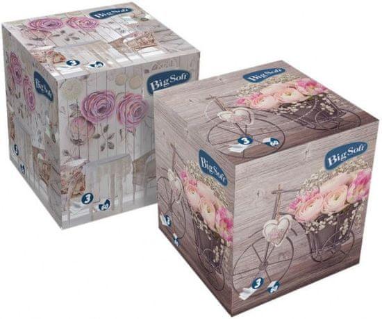 Moracell Big Soft Kostka papírové kosmetické kapesníčky 60 ks, 3 vr., 100% celulóza
