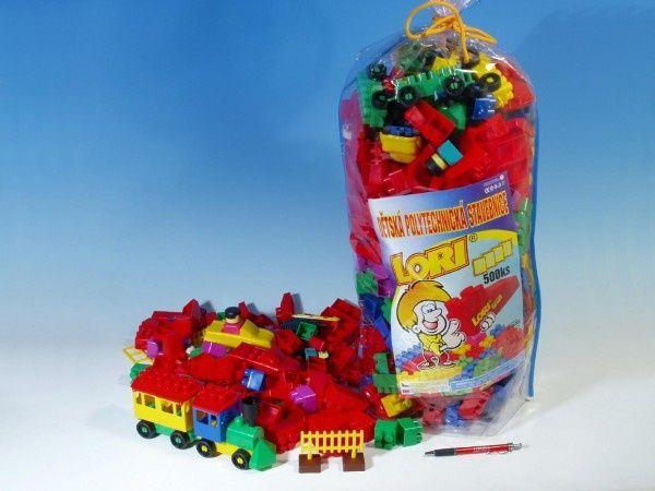 Teddies Stavebnice LORI 500 balení pro školky plast 500ks v pytli 30x70x20cm