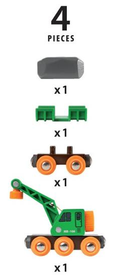 Brio vagon z žerjavom