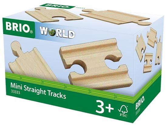 Brio WORLD 33333 Mini rovné koleje