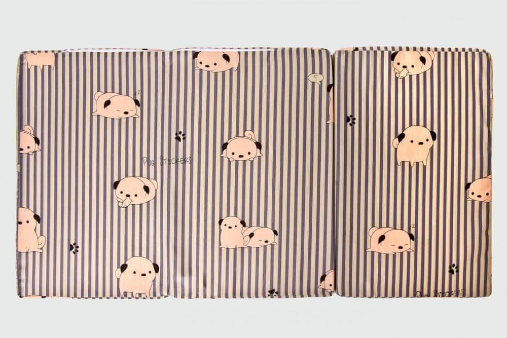 Puppolina Skládací matrace s potiskem pejsků béžová