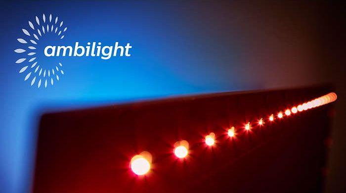 Philips Ambilight, inteligentní LED světla, micro dimming pro, hudba s funkcí ambilight, herní režim, přizpůsobení barvě stěn