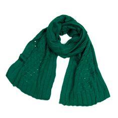 Stylomat Hřejivý zimní šál zelený