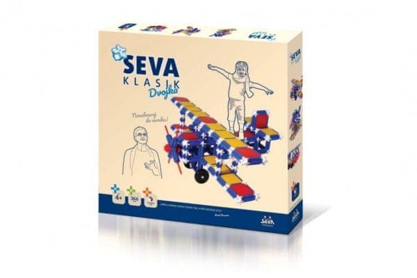VISTA Stavebnice Seva plast Klasik Dvojka 366ks v krabici 36x33,5x5cm