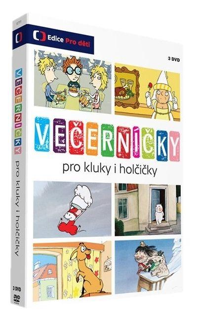 VEČERNÍČKY PRO KLUKY I HOLČIČKY - 3 DVD