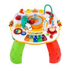 NEW BABY Hovoriaci a hrajúci interaktívný stolček New Baby s jazdiacim vláčikom CZ/SK Podľa obrázku