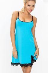 DKaren Dámská košilka Emma turquoise, tyrkysová, L