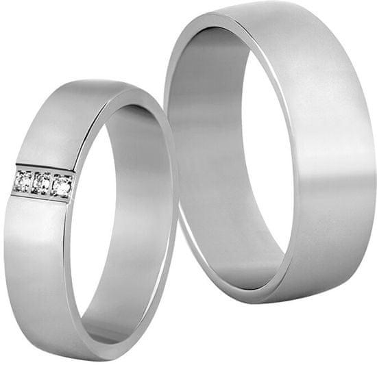 Beneto Ženski poročni prstan iz jekla SPD01