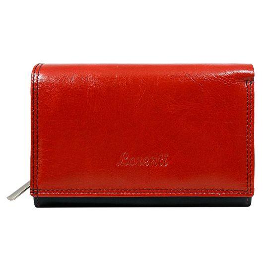 Lorenti Dámská kožená peněženka Zdeňka červená