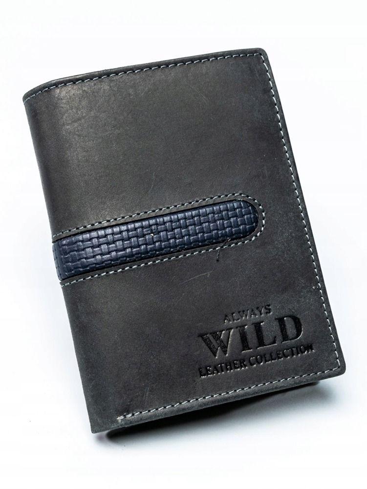 Always Wild Pánská kožená peněženka Ton, černá