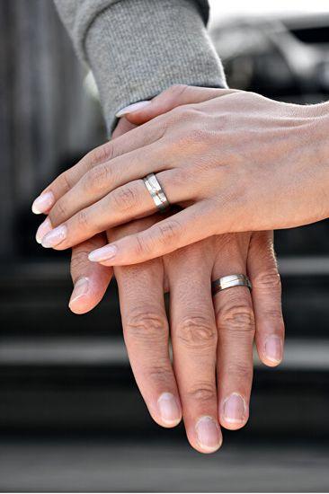 Beneto Moški dvodelni poročni prstan iz jekla SPP07