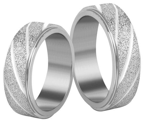 Troli Acél karikagyűrű ezüst / csillogó