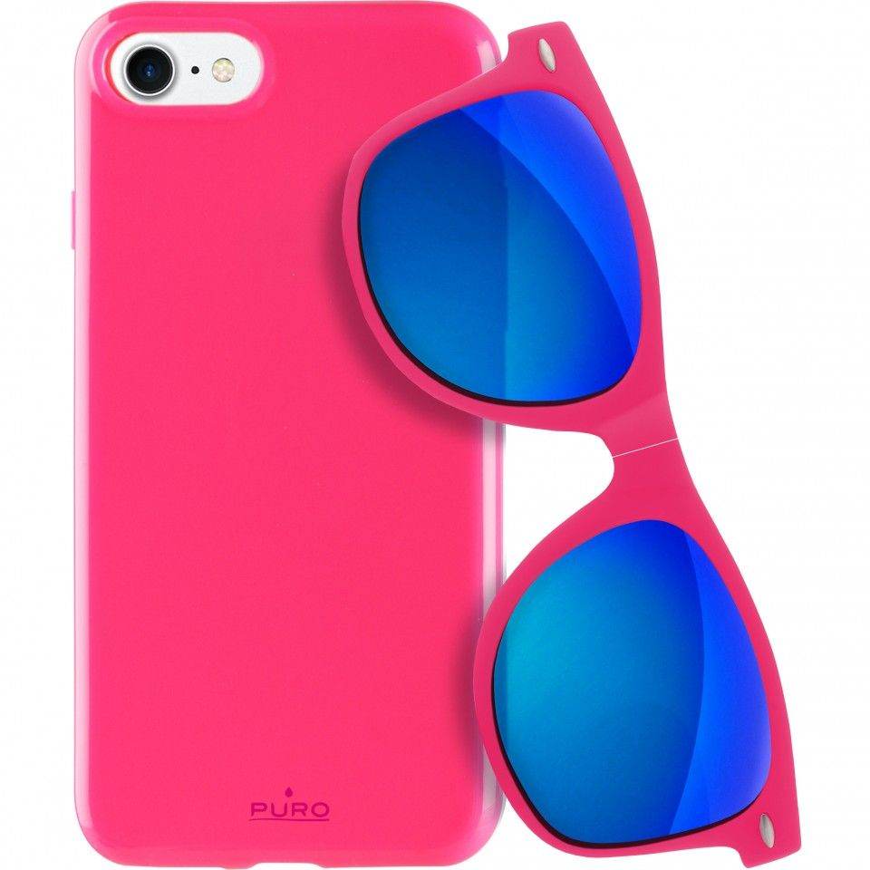 Puro Kryt PURO pro iPhone 7/8 růžový + DÁREK Slunenčí brýle