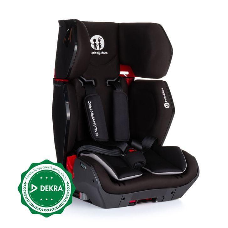Petite&Mars Autosedačka Galaxyfix Pro Black 9-36 kg 2019 P
