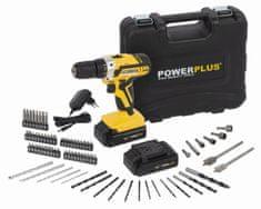 PowerPlus POWX00820 - Aku skrutkovač / vŕtačka 20V LI-ION plus 74ks príslušenstvo