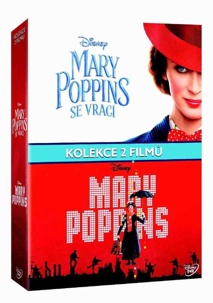 Mary Poppins kolekce - 3 DVD (2 filmy+bonus disk)