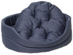 Dog Fantasy Pelech oval s polštářem tm.modrý vel. XS