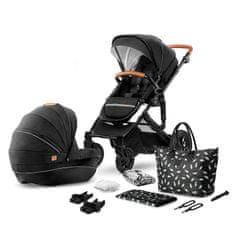 KinderKraft Stroller PRIME 2-in-1 športni voziček s košarico, črn - Odprta embalaža