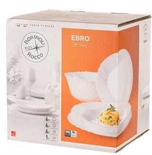Luigi Bormioli Sada talířů EBRO, 19 ks