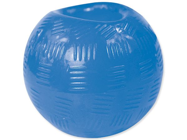 Dog Fantasy Hračka Strong míček gumový modrý 8,9 cm